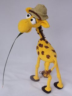 Amigurumi Crochet Pattern - Geoffrey the Giraffe