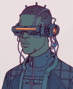 Hymn by Josan Gonzales Cyberpunk 2020, Arte Cyberpunk, Cyberpunk Aesthetic, Vaporwave Art, Black Anime Characters, Cyberpunk Character, Robot Concept Art, Marvel, Retro Futurism