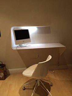 Mdf Italia Mamba Mounted Desk U0026 Chair On Chairish.com