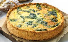 Gluteeniton pinaattipiirakka Celiac, Prosciutto, Allergies, Quiche, Gluten Free, Snacks, Keto, Baking, Breakfast