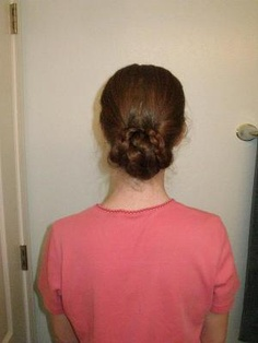 Wrapped braid bun. Sigh, this makes me wish I had really long hair.