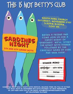 Children's Ministry fun ideas....my kids love to play sardines!!