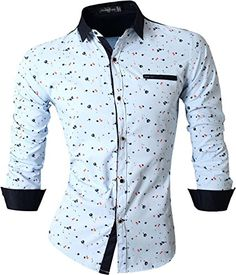 jeansian Men's Stitching Printed Long Sleeves Dress Shirts Tops 4 84D8 Blue X-Large jeansian http://www.amazon.com/dp/B01CTY0CU2/ref=cm_sw_r_pi_dp_KzN4wb0XRZ2S9