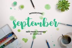 COMMERCIAL USE ALLOWED --- September - a new fresh handmade calligraphy font. Very suitable for greeting cards, branding materials, business cards, quotes, Character Map, Female Character Design, Handwritten Script Font, Calligraphy Fonts, Design Typography, Typography Fonts, Texture Web, Cool Fonts, Pretty Fonts