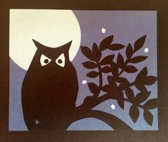 """Dance by the light of the moon"" cut paper illustration-by Michael Brooks"