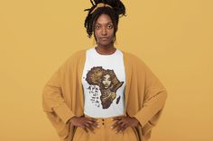 African Woman T-shirt (Unisex) | Afro Girl Shirt, African American Woman T-shirt, Black History Shirt, Black Lives Matter, Short Sleeve Tee Afro Girl, Novelty Shirts, Graphic Tee Shirts, African American Women, Shirts With Sayings, Shirt Shop, Shirts For Girls, Short Sleeve Tee, Cool T Shirts