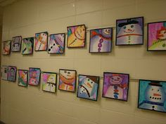 WHAT'S HAPPENING IN THE ART ROOM??: 3rd Grade: Snowmen
