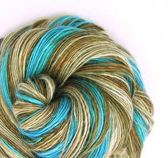 Handspun Yarn 50/50 Merino Silk Sock Weight. 295 by TheSavvyStitch, $26.00