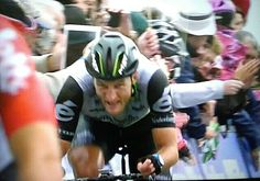 Steve Cummings pure guts and determination.. To take the Yellow Jersey finishing 7th in the race.. Stage 7 finish in Haytor Dartmoor