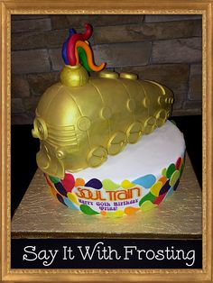 Soul Train Birthday Cake for a party in Ft Walton Beach, FL. 70th Birthday Parties, Adult Birthday Party, 60th Birthday, Birthday Ideas, Disco Theme, Disco Party, 70s Party Outfit, Decade Party, Soul Train