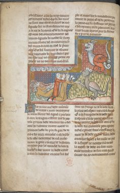 Add_ms_38842_f005v Three men worshipping the beast out of the earth, with the dragon on a hill;  fire descends from heaven and four men lie dead, Add MS 38842, f. 5v  - See more at: http://britishlibrary.typepad.co.uk/digitisedmanuscripts/2014/11/fire-and-brimstone-another-apocalypse-manuscript-goes-live.html#sthash.Xt6IO9Ac.dpuf