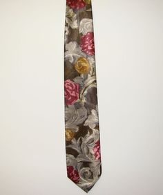Wembley Made in USA Mens Floral 100% Polyester Dress Necktie Neck Tie 60in #Wembley #Tie