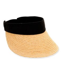 Take a look at this Black Straw Visor on zulily today!