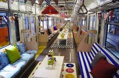 Ikea transforms an entire japanese monorail into an awesome mobile showroom