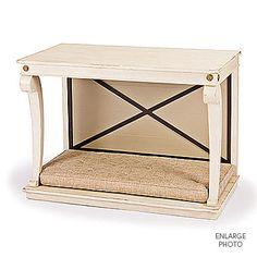 #002 Alternate – Directoire Dog Bed Console – Shown in limestone