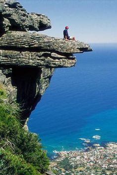 Table Mountain Capetown, South Africa. Wonderful view.  Gorgeous Landscape.  I think you could see forever from here.