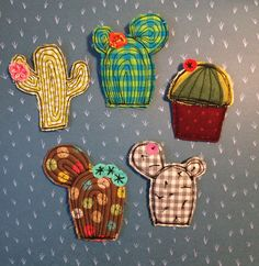 B-meow brooches # bmeowhandmade – Sewing Projects Cactus Craft, Cactus Decor, Hobbies And Crafts, Crafts To Sell, Diy And Crafts, Free Motion Embroidery, Free Machine Embroidery, Barrettes, Love Sewing