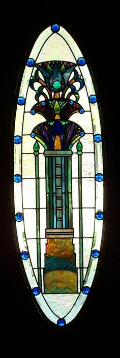 egyptian stained glass window