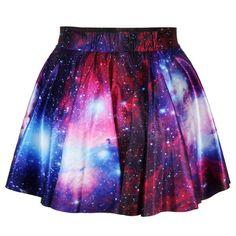 Starry Sky Print Skirt