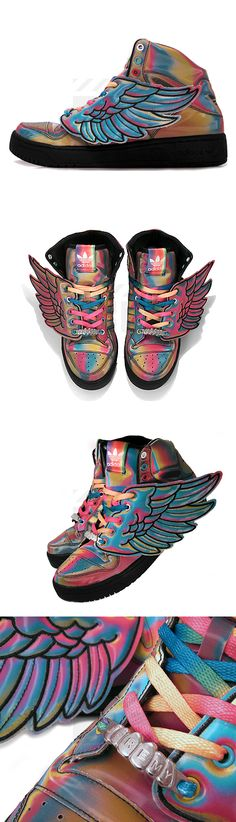 buy popular ebb30 33851 Adidas  Jeremy Scott Wings (Translucent White Metallic Silver) Zapatillas,  Entrenadores