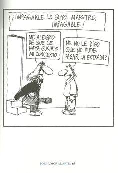 """""""Por humor al arte"""". Artista: Caloi. Leer más sobre esta publicación: http://www.losinrocks.com/libros/cinco-libros-de-caloi#.VLAUIyuG9rU"""
