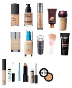 """foundation/concealer wish list"" by iloveharrystylesalot69 ❤ liked on Polyvore featuring beauty, NARS Cosmetics, Urban Decay, tarte, Shiseido, Maybelline, Smashbox, NYX, Sue Devitt and Revlon"