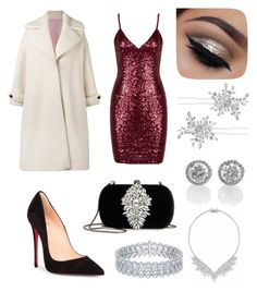 """Glam christmas party"" by fashionstyleideas4now on Polyvore featuring Olympia Le-Tan, Christian Louboutin, Badgley Mischka and Matthew Williamson"