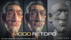 cmiVFX Luxology Modo Retopology Tactics - http://naughtysms.net/cmivfx-luxology-modo-retopology-tactics/