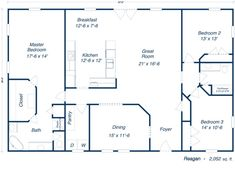 30x50 rectangle house plans | expansive one-story i would add a