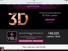 WOW!! If you've been ribbing about joining then now is the time to do it! Our 3D+ is selling in record breaking numbers!! Just go to www.youniquebysarahtinker.com and click join.  Or order your 3D+ from the same link