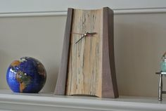 Mantle clock - walnut sycamore