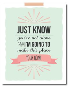 "Phillip Phillips ""home"" Sign Print for Nursery. Am I the only one who hears the commercial when I read this?"