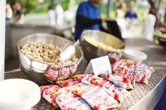 Cracker Jacks and Peanuts. Baseball Wedding