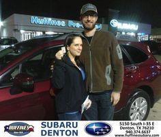 https://flic.kr/p/Ceuqan | Happy Anniversary to Ashley  on your #Subaru #Outback from Bill Klozik at Huffines Subaru Denton! | deliverymaxx.com/DealerReviews.aspx?DealerCode=XDJB