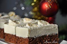 Prajitura de ciocolata cu crema de nuca de cocos | Retete culinare cu Laura Sava - Cele mai bune retete pentru intreaga familie Yami Yami, Coco, Feta, Mai, Cheesecake, Deserts, Sweets, Healthy, Cakes