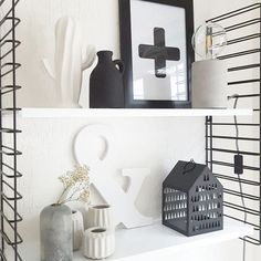 Like the items Black And White Interior, Black White, My Living Room, Storage Shelves, Girls Bedroom, Live Life, Interior Inspiration, Baby Room, Sweet Home