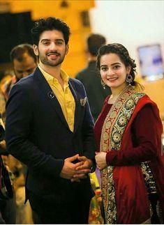 muneeb butt and aiman khan real life couple Pakistani Dress Design, Pakistani Bridal, Pakistani Dresses, Pakistani Clothing, Fancy Wedding Dresses, Aiman Khan, Indian Designer Outfits, Pakistani Actress, Celebs
