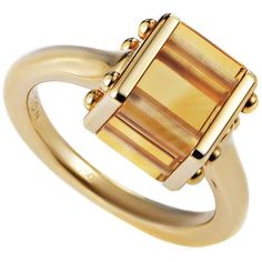Preowned Louis Vuitton Citrine Gold Ring ($2,450) ❤ liked on Polyvore featuring jewelry, rings, multiple, gold jewellery, 18k ring, yellow gold rings, gold ring and gold jewelry