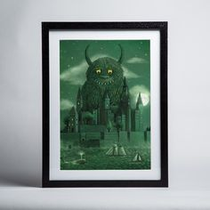 Terry Fan - Age of the Giants - Framed print