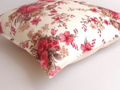 pink floral print pillow coverdecorative throw pillow by SNOhome, $18.00 #housewares #pillow #etsybot