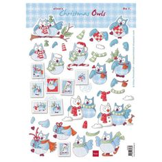 Marianne Design 3D Cutting Sheet - Eline's Christmas Owls 1 AK0055