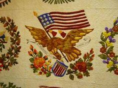Eagle applique quilt block