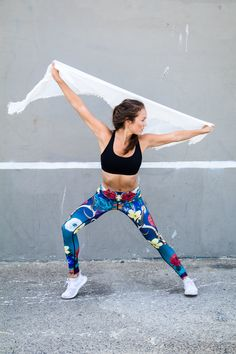 6fb4d3f991 Leggings inspired by the artwork of Georgia O'Keefe part of the Yoga  Democracy Goddess