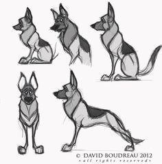 Design Sketches - The Art of David Boudreau - draw & learn -Concept Design Sketches - The Art of David Boudreau - draw & learn - Animal Sketches, Animal Drawings, Art Sketches, Sketches Of Dogs, Cartoon Dog, Cartoon Drawings, Art Drawings, Art And Illustration, Illustrations