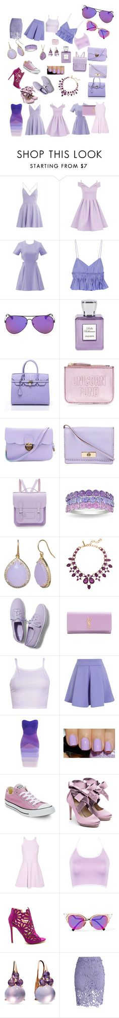 """""""Lilac dream"""" by emmathebae ❤ liked on Polyvore featuring AX Paris, Chi Chi, Elizabeth and James, Tod's, Bella Bellissima, New Look, Kate Spade, The Cambridge Satchel Company, Ice and Oscar de la Renta"""