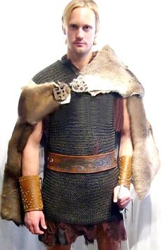 Alexander Skarsgard, wearing traditional Viking Garb