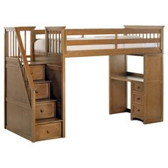 Shop for School House Pecan Stair Loft with Desk End. Get free delivery at Overstock.com - Your Online Furniture Outlet Store! Get 5% in rewards…