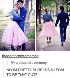 Adorable Rose and Ten cosplay. #relationshipgoals