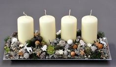 Advent, Centre Pieces, Yard Landscaping, Xmas, Christmas, Pillar Candles, Dyi, Holiday Decor, Apples