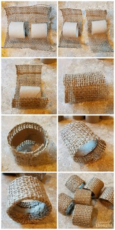 Thanksgiving Table Settings, Thanksgiving Crafts, Holiday Crafts, Thanksgiving Decorations, Jute Crafts, Diy Home Crafts, Christmas Napkins, Christmas Crafts, Napkin Rings Diy Christmas